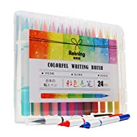 24-Pcs LLY Watercolor Brushes Marker Set Calligraphy Pen 19007