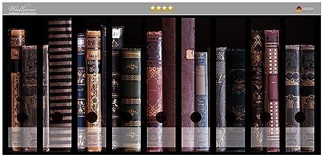Archivadores diseño de estantería con libros antiguos en CALIDAD - Talla 54 x 30 cm,
