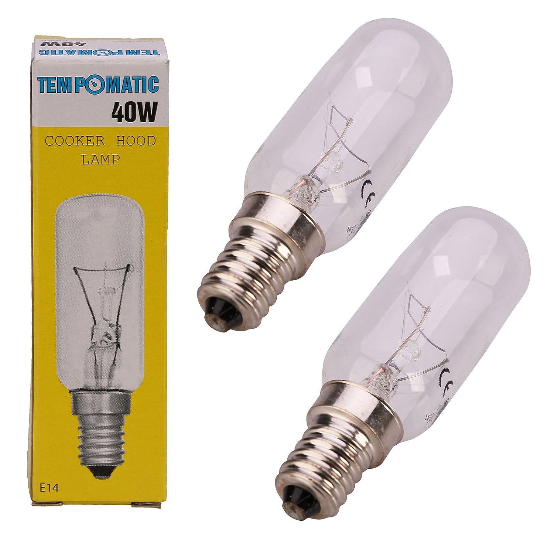 Qualtex E14 40W SES Cooker Hood Light Lamp Bulb Tubular Shape Bulb 3 Pack