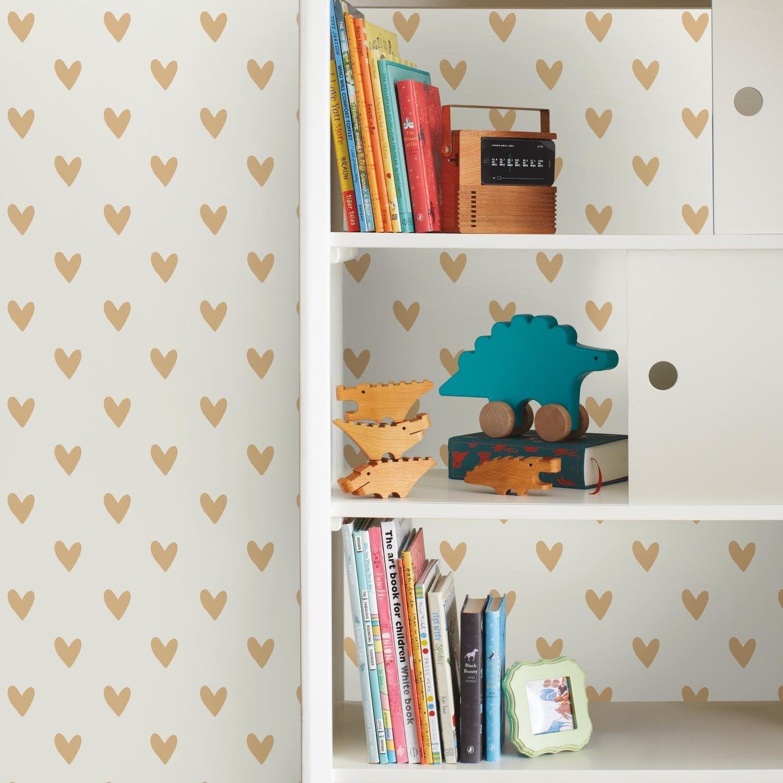 Roommates Gold Heart Peel And Stick Wallpaper Amazon Com