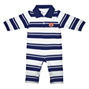 Auburn Tigers NCAA College Infant Baby Rugby Striped Leg Romper (6 Months)
