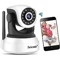 Sricam Cámara de Vigilancia, Cámara IP Wifi Calidad 720P ,Cámara seguridad wifi Interior Inalámbrico Visión Nocturna, Audio Bidireccional, Detección de Movimiento, Compatible iOS Android Windows PC