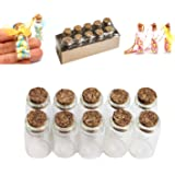 Mini Glass Bottles Cork Tops for Camping Project, Arts & Crafts, Jewelry, Stranded Island Message, Wedding Wish, Party…