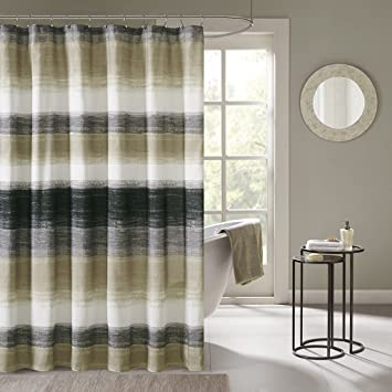 Madison Park MPE70 173 Essentials Saben Printed Shower Curtain 72 X 72quot