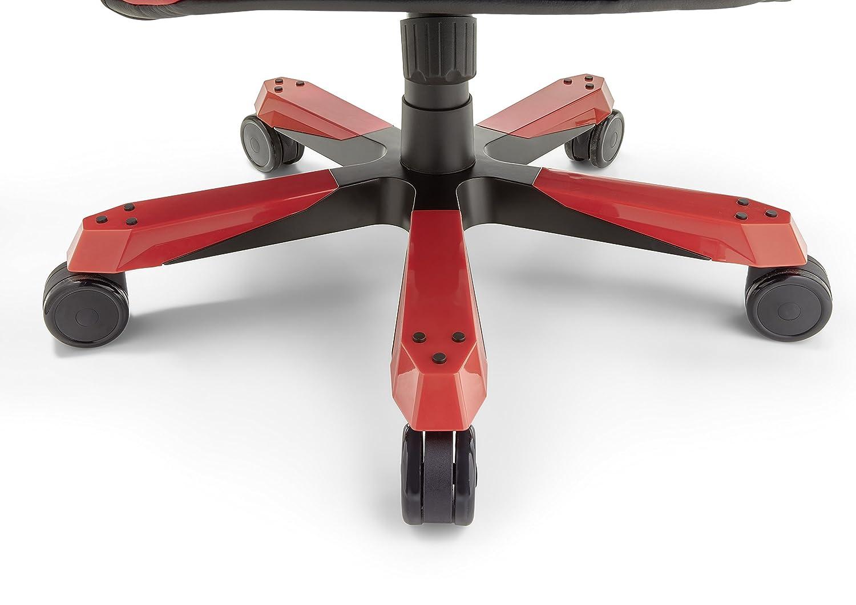 dx racer12 gamingstuhl schreibtischstuhl brostuhl gaming chair wide serie schwarz rot 69 x 127 134 x 76 cm 62543nn4 amazonde kche haushalt - Bild Wohnzimmer Erschrecken