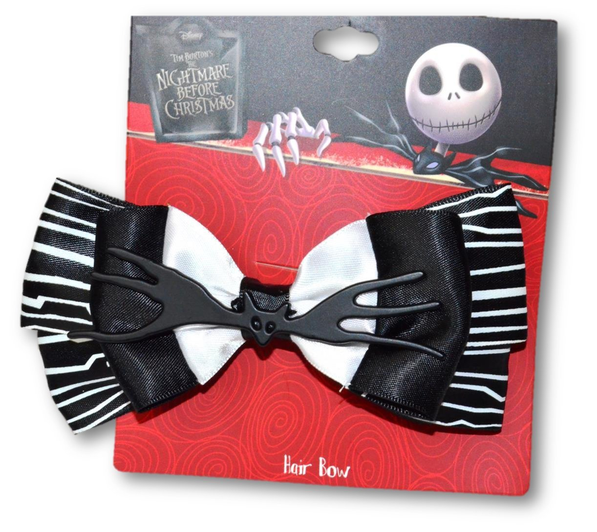 Amazon.com : Nightmare Before Christmas Jack Skellington Hair Bow ...
