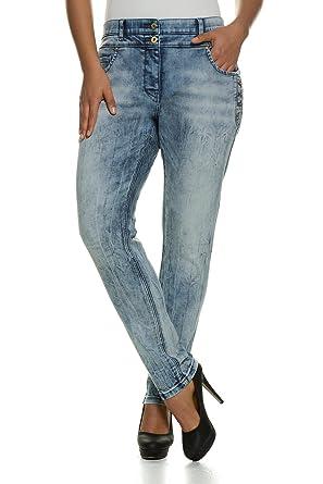 1b440f0b491b2 Ulla Popken Femme Grandes tailles   Pantalon Jeans Taille Haute Denim  Stretch   bleu clair 56
