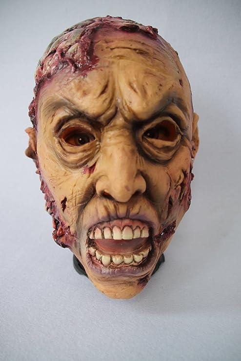 Máscara de Zombie, Máscara de Látex de Cerebro para Adultos, Novedad de Halloween Completa sobre la máscara de látex de cabeza, Máscara de terror de Cosplay ...