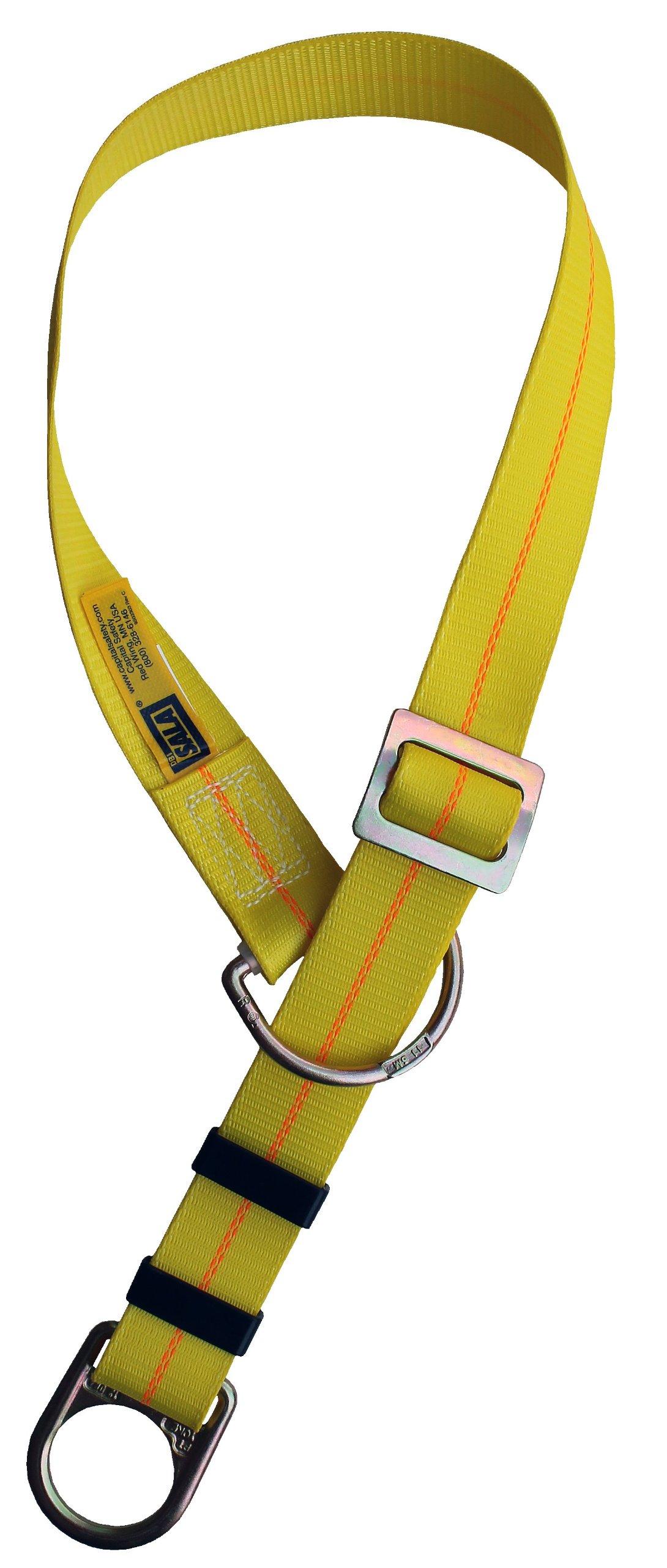 3M DBI-SALA 1002106 Adjustable Tie Off Adaptor, 6', Pass-Thru Type, Yellow