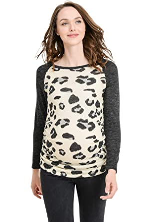 42bcfe194a19c Women's Maternity Sweater Knit Tops - Long Sleeve, Ruched, Raglan, Casual, T