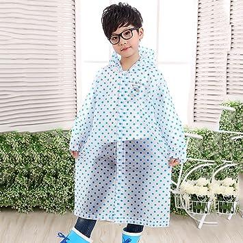 Raincoat Puntos Adulto al Aire Libre El pie del niño del Impermeable Niño Niña Larga sección Rompevientos Tipo Poncho Chaqueta Impermeable (Color : # 2): ...