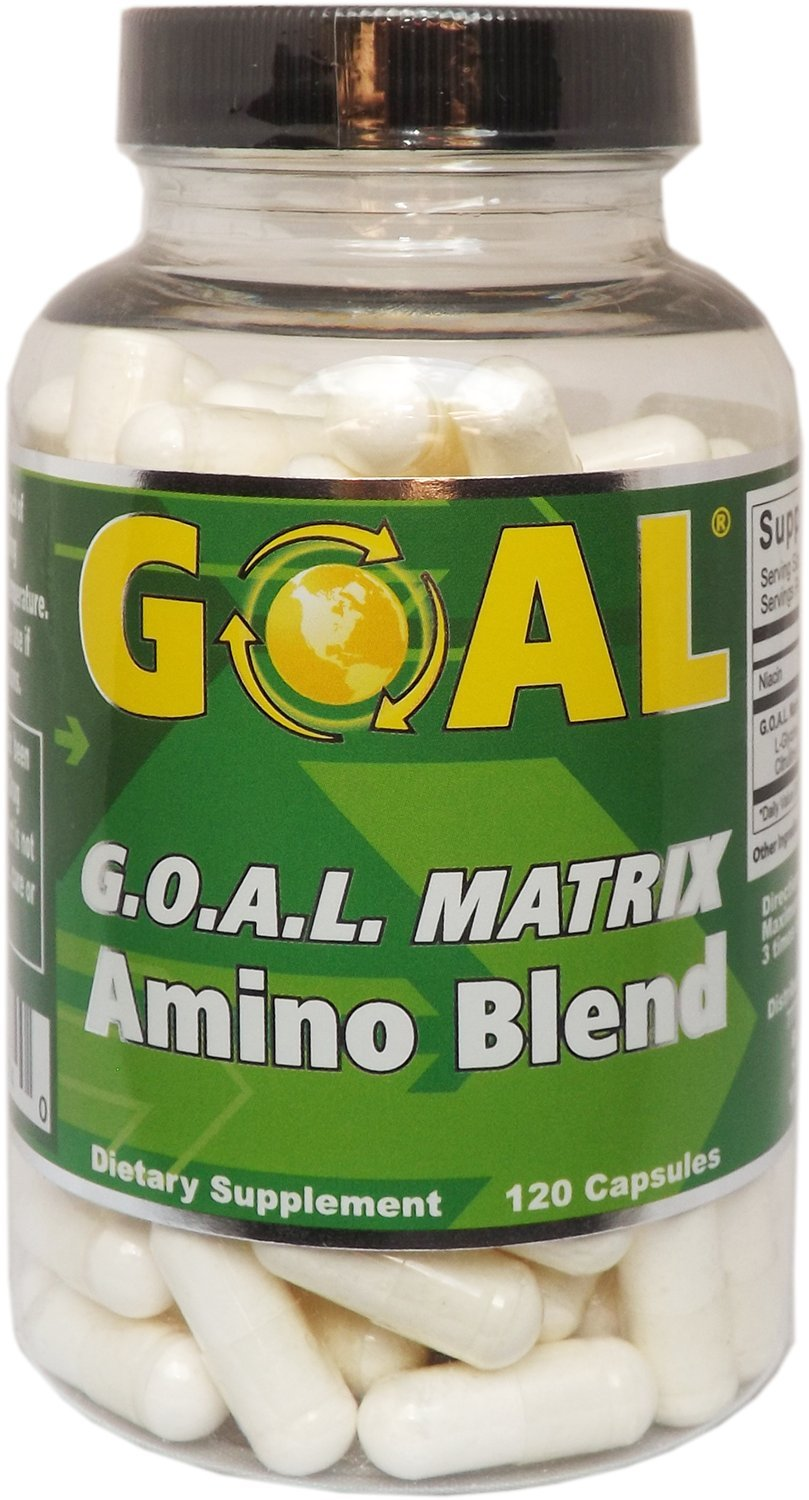 GOAL - G.O.A.L. MATRIX Amino Acids Complex Silver Label 120 Capsules - Best NO Supplement L-Glycine L-Ornithine L-Arginine L-Lysine Combination Nitric Oxide Boosters for Men and Women