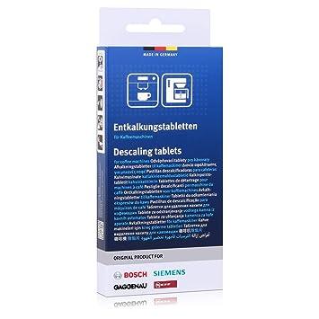 Siemens 311819 00311819 Original 3 x Descalcificador Tab pastillas descalcificadoras pastillas antical Lavado 2 in1 Calc