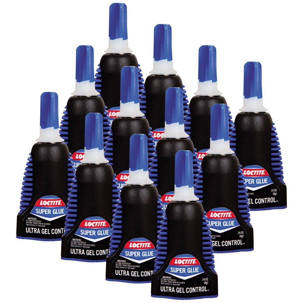 Loctite 1363589 0.14 Oz Ultra Gel Rubber Toughened Super Glue 12 Pack