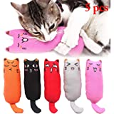 Legendog 5Pcs Catnip Toy, Cat Chew Toy Bite Resistant Catnip Toys for Cats,Catnip Filled Cartoon Mice Cat Teething Chew…