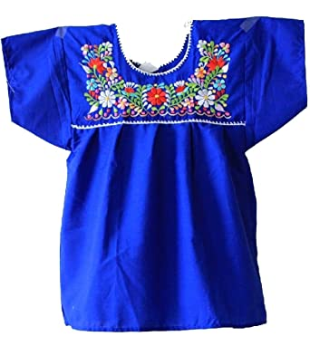 Mexican Peasant Puebla Blouse 3x Blue