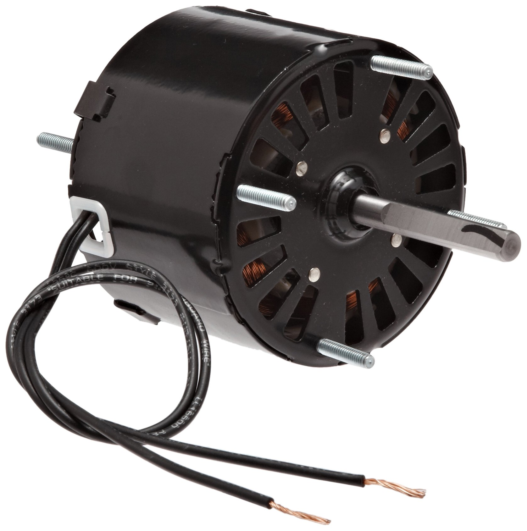Fasco D126 3.3'' Frame Open Ventilated Shaded Pole General Purpose Motor with Sleeve Bearing, 1/40HP, 1500rpm, 115V, 60Hz, 1.1 amps