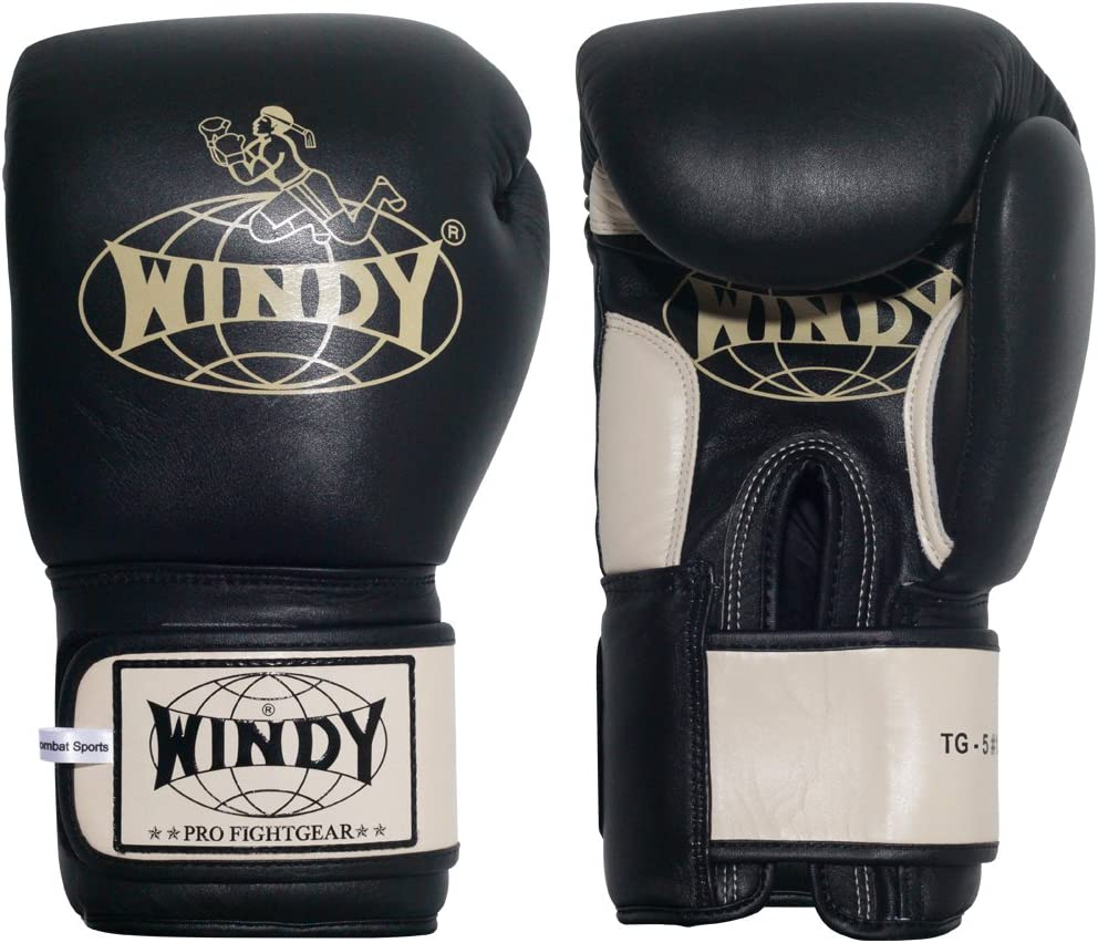 WINDY Leather Muay Thai Training Sparring Gloves