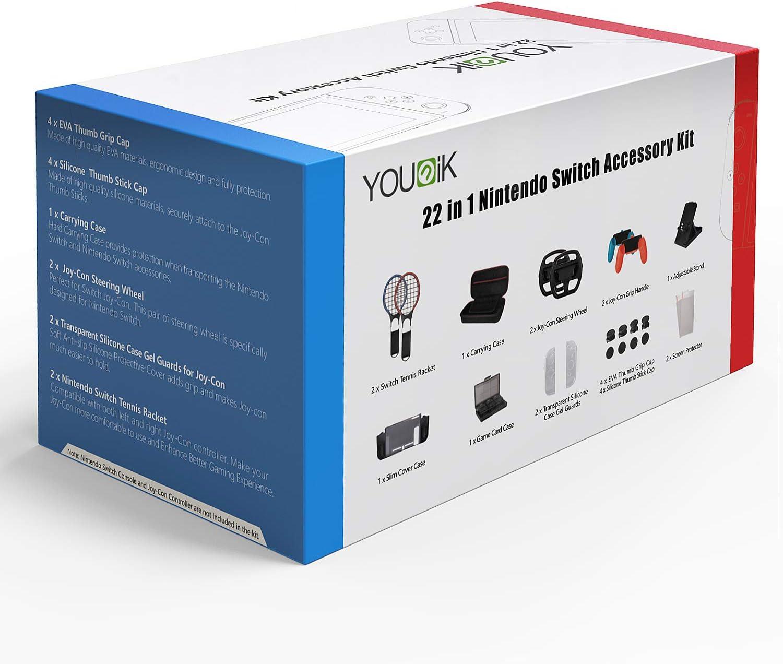 Younik Juego de 22 Accesorios en 1 para Nintendo Switch: Amazon.es ...