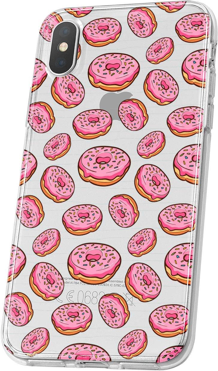 LA COQUERIE Coque Donuts ASUS Zenfone Max M1 Silicone Transparent Originale /à Motif Etui de prot/éction pour t/él/éphone