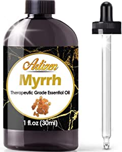 Artizen Myrrh Essential Oil (100% Pure & Natural - Undiluted) Therapeutic Grade - Huge 1oz Bottle - Perfect for Aromatherapy, Relaxation, Skin Therapy & More!