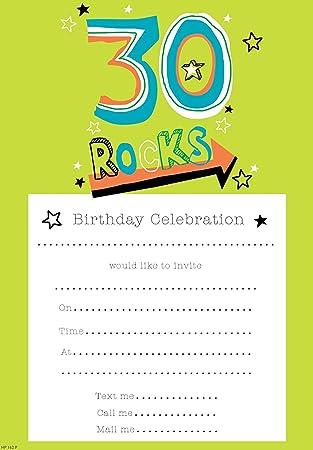 amazon com simon elvin 30th male birthday party invites envelopes