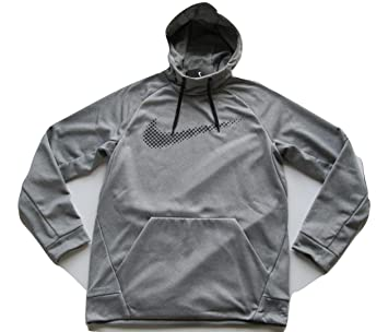 Nike de los hombres Therma formación sudadera con capucha 839100 091 Base gris/negro (tamaño mediano): Amazon.es: Deportes y aire libre