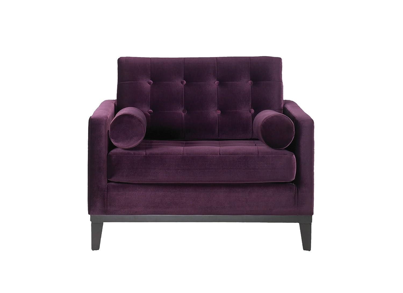Purple velvet chair - Amazon Com Armen Living Centennial Chair In Purple Velvet Standard Kitchen Dining