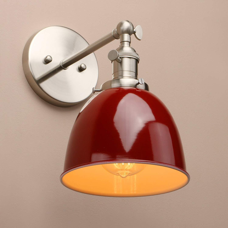 工業用ヴィンテージメタルシェードロフトバーキッチン燭台ウォールライトランプ照明器具E27 壁面ライト B07RMDRF19