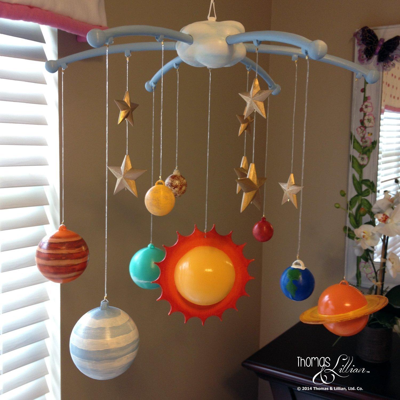 Solar System Children's Mobile - Solar System Baby Mobile - Planets Mobile - Earth Mobile - Outer Space Mobile - Handmade Custom Mobile by Thomas & Lillian, LLC