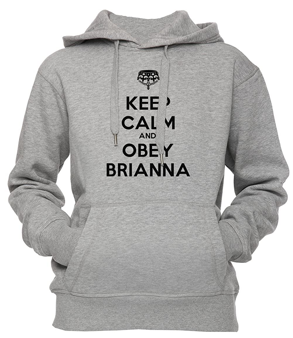 Keep Calm And Obey Brianna Unisexo Hombre Mujer Sudadera Con Capucha Pullover Gris Todos Los Tamaños Unisex Mens Womens Hoodie Sweatshirt Grey All Sizes: ...