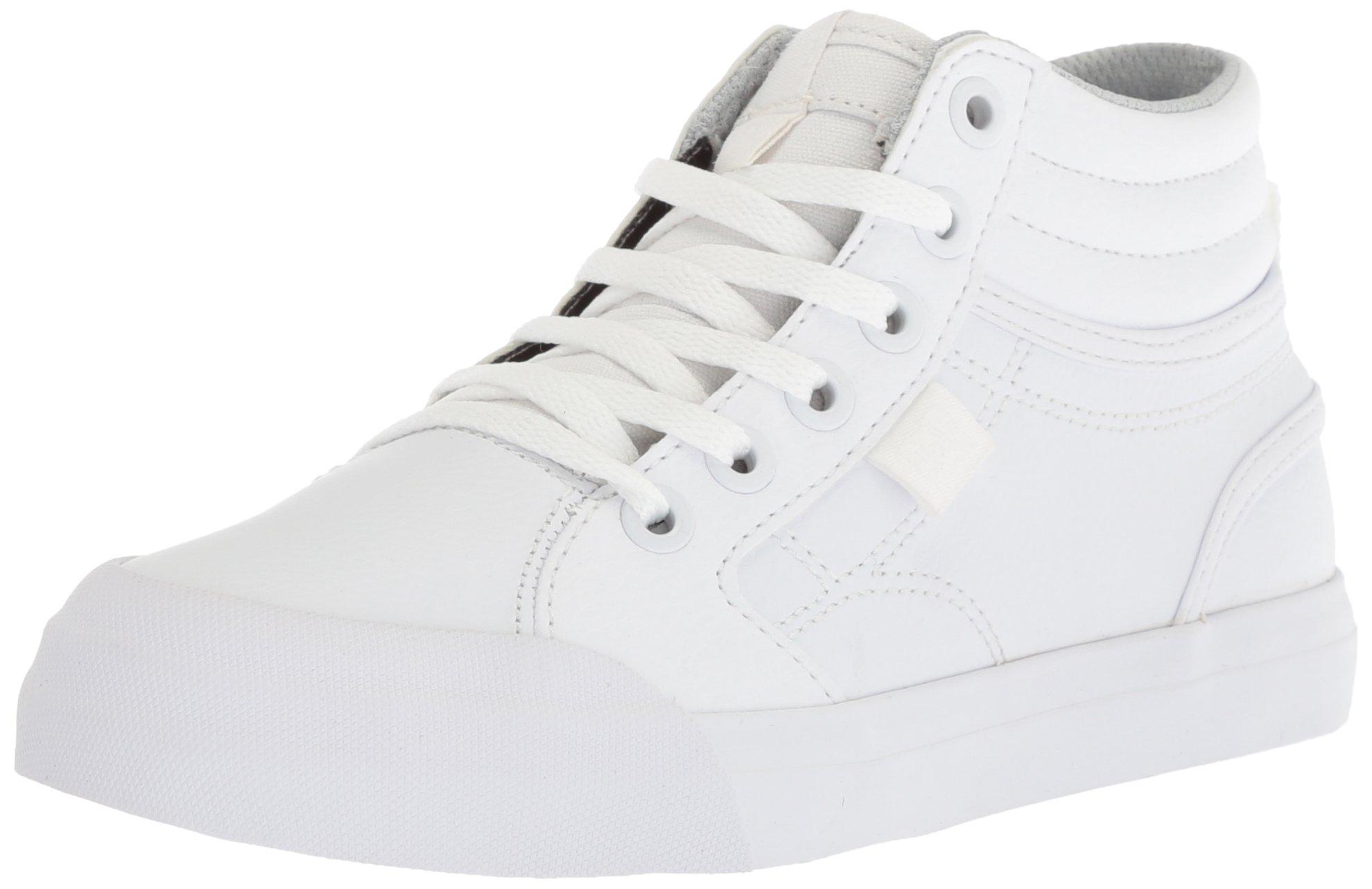 DC Boys Youth Evan Hi Skate Shoes, White 13.5 M US Little Kid