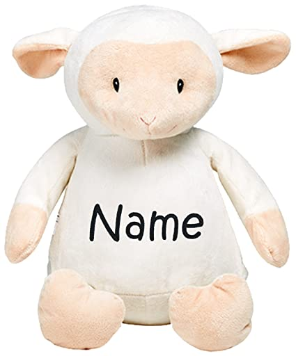 Amazon Com Personalized Stuffed White Lamb With Embroidered Name