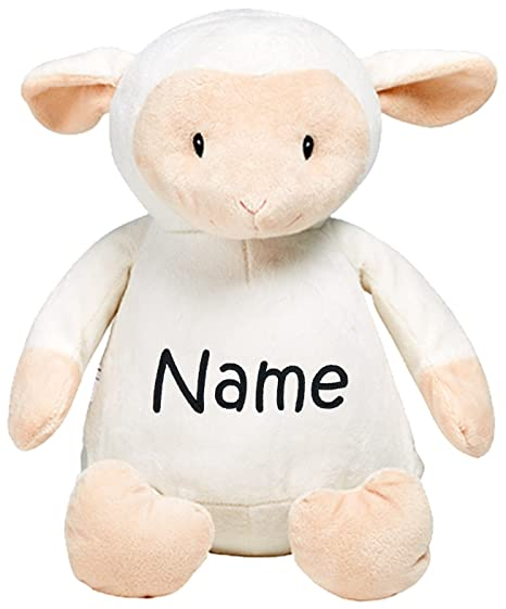 5482a844f3e Image Unavailable. Image not available for. Color  Personalized Stuffed  White Lamb with Embroidered Name