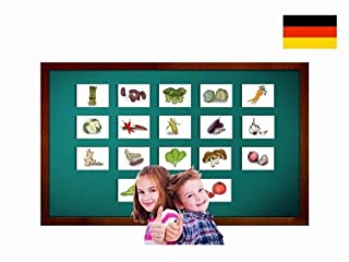 Carte illustrate educativi Verdure - Flashcard Lingua Tedesco - Bildkarten Gemüse - Size 4.13 × 5.83 inch = DIN A6 (105 x 148 mm)
