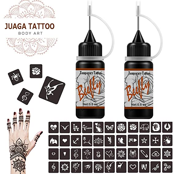 Jagua Tattoo Gel tatuajes temporales Kit Semi permanente simulado ...