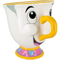 Paladone Disney Mug La Belle et la Bête-Zip, PaladoneGIFPAL319, Off White, Taille Unique