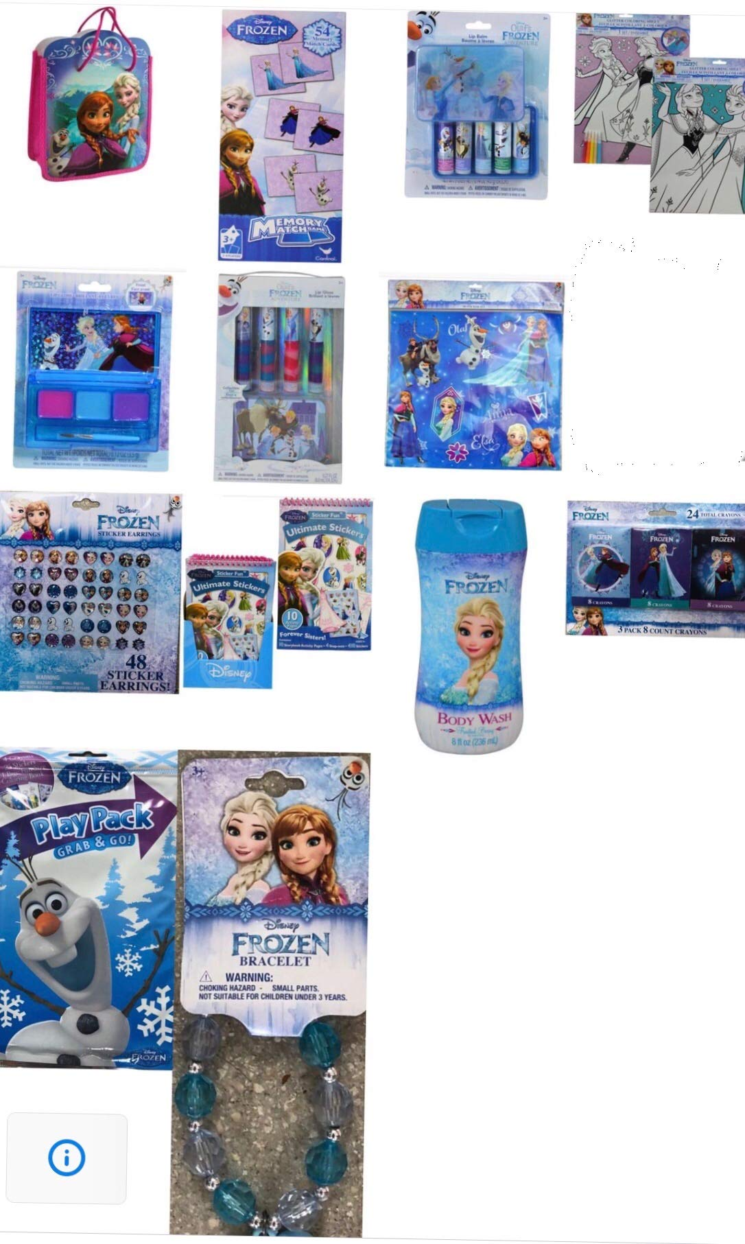 Disney Frozen Complete Bundle Surprise Girls Toys Bag/Cosmetic Set/Playpack+ Accessories Set (60+ pcs) | Perfect Gift for Girls Birthday,Christmas etc