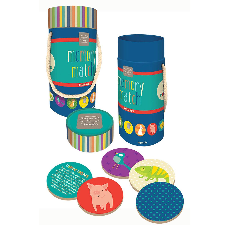 Amazon.com: Kathy Ireland Kids Memory Match Game Tube - Animals ...