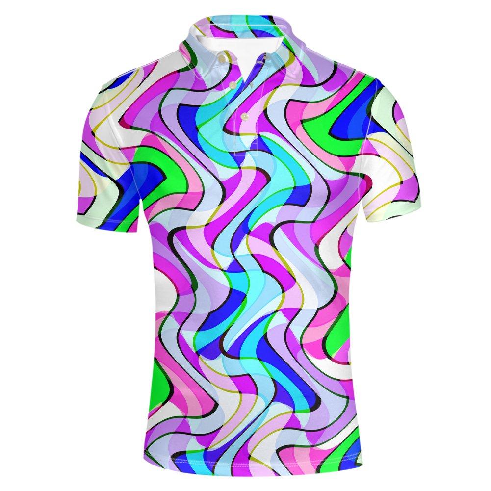 HUGS IDEA Men's Polos Shirt Summer Short Sleevee T-Shirts Y-CA551CS6