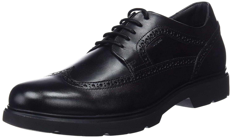 TALLA 46 EU. Geox U Arrall B, Zapatos de Cordones Brogue para Hombre