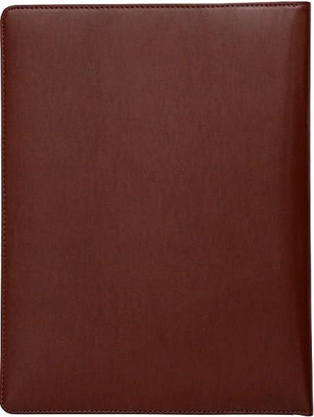 Cartera portafolios de estilo ejecutivo - Para documentos de tamaño A4 - Cuero abatanado - Marrón: Amazon.es: Oficina y papelería