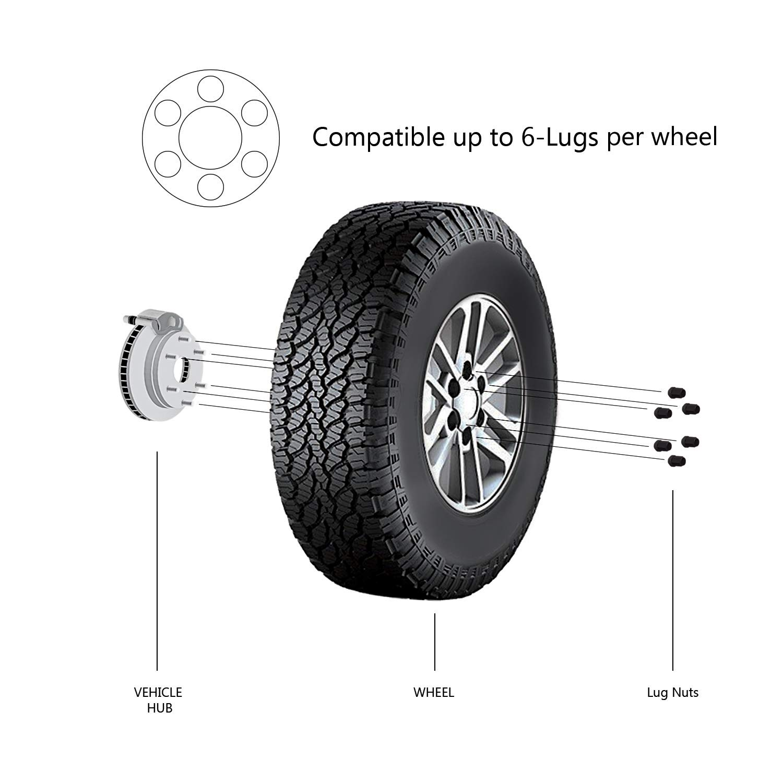TC Sportline WH-LN1415138BK 24 pcs Black Bulge Acorn Wheel Lug Nuts 14x1.5 Closed End 1.38 Tall 3//4 Hex