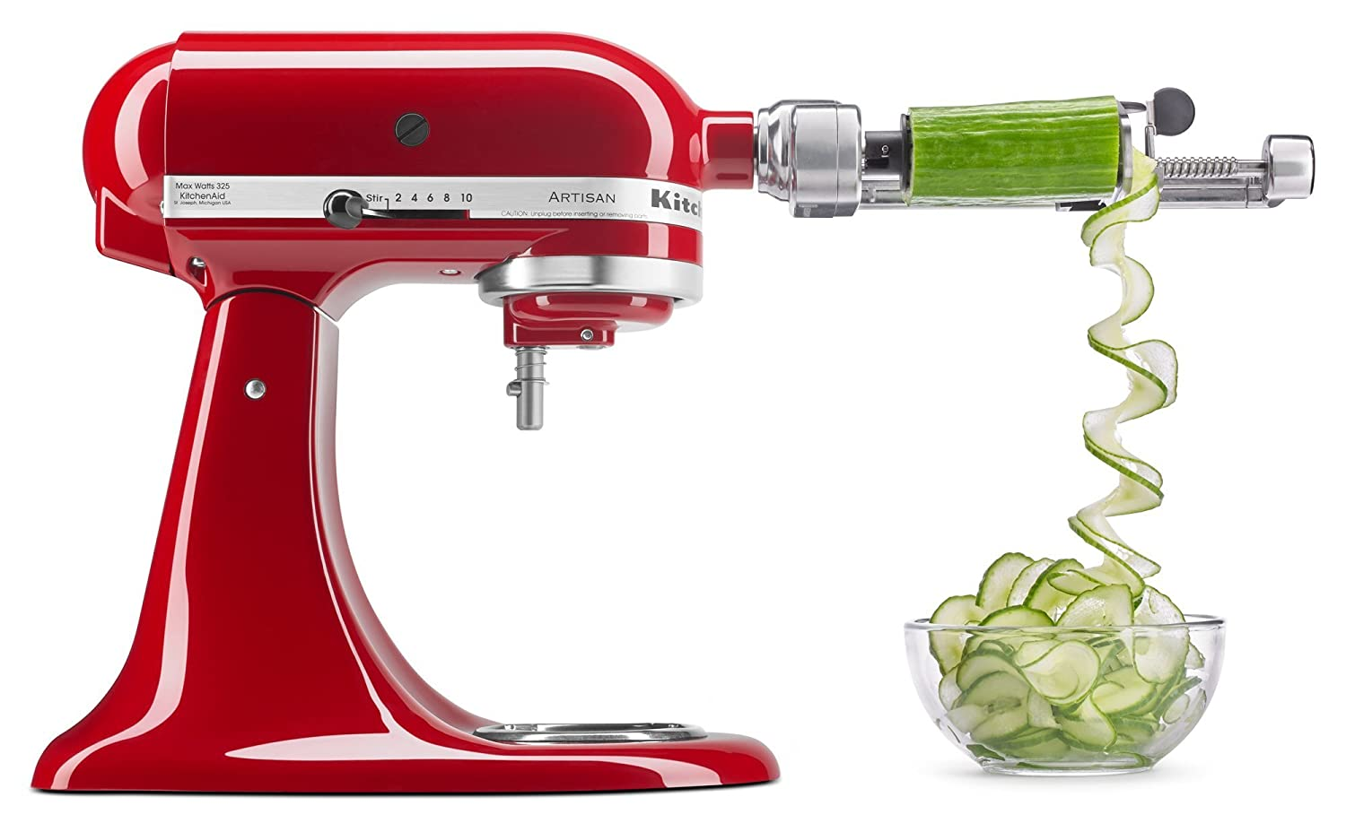 "KitchenAid KSM1APC Spiralizer Attachment, 1"" Silver"