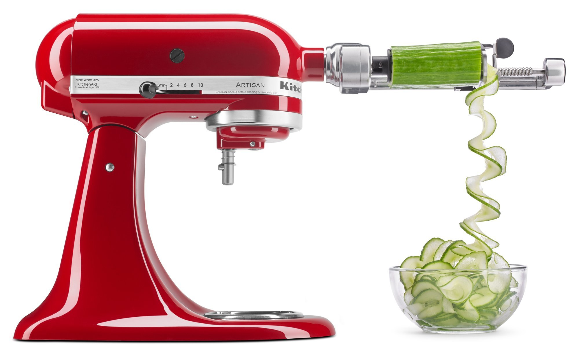 KitchenAid KSM1APC Spiralizer Attachment with Peel, Core and Slice by KitchenAid