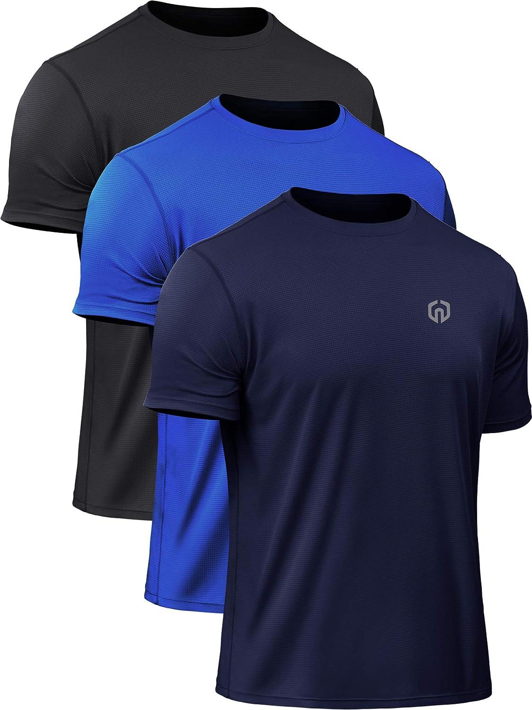 Neleus Men's Dry Fit Athletic Performance Shirt