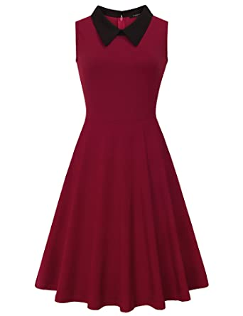 VALOLIA Graduation Dress, Ladies Summer Dresses Evening Party A-line Swing Slim Fit Flare