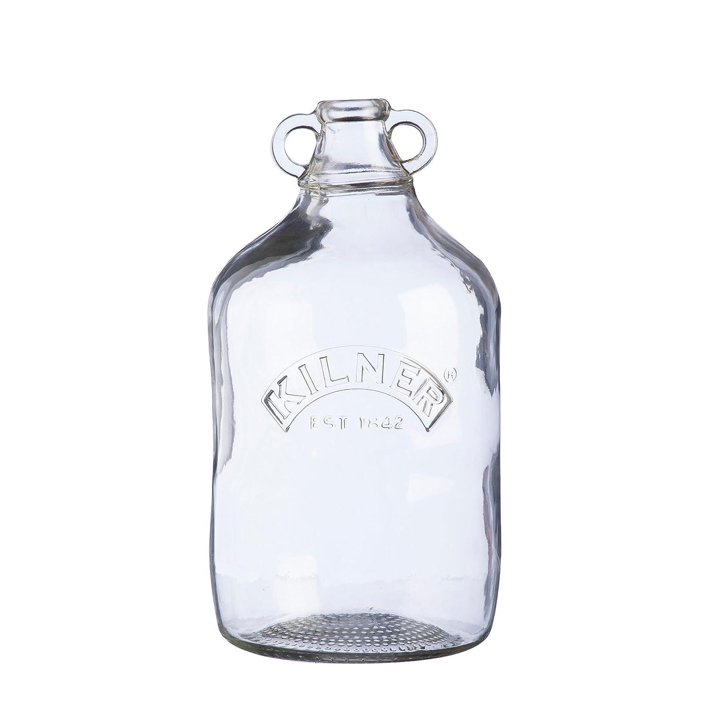 Kilner damajuana 4,5 L - Set de 4 - Gran botella de cristal para bebidas en casa de vino y cervezas: Amazon.es: Hogar