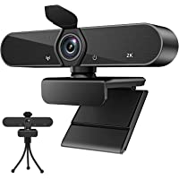 Webcam with Microphone,Full HD 1080P USB Webcam Autofocus 30fps Plug and Play 140 Degree Wide Angle with Privacy Cover…