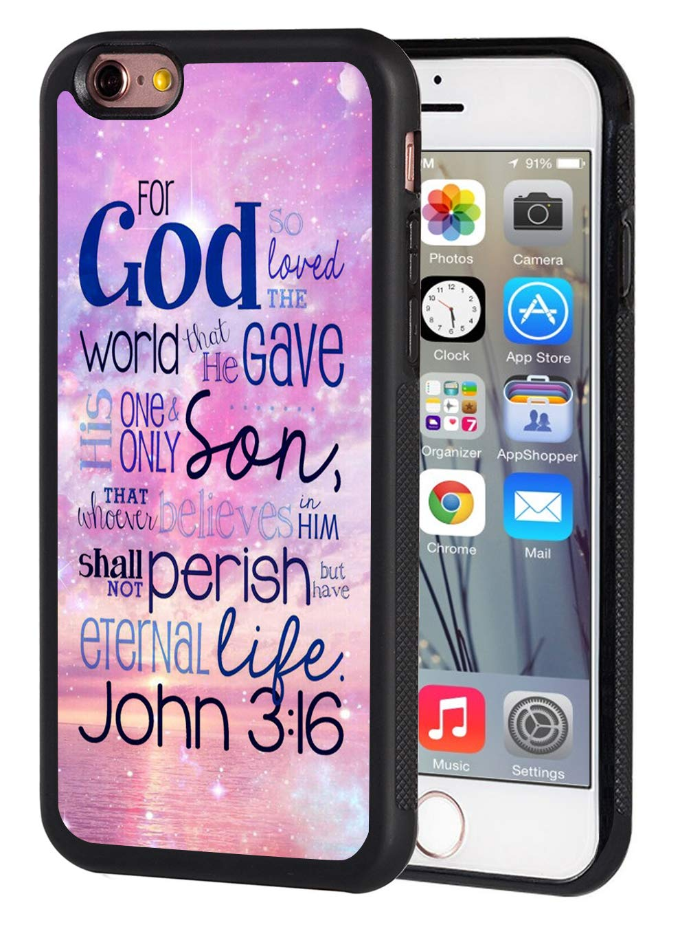 Amazon com: iPhone 6 Case,iPhone 6S Case,Christian Quotes